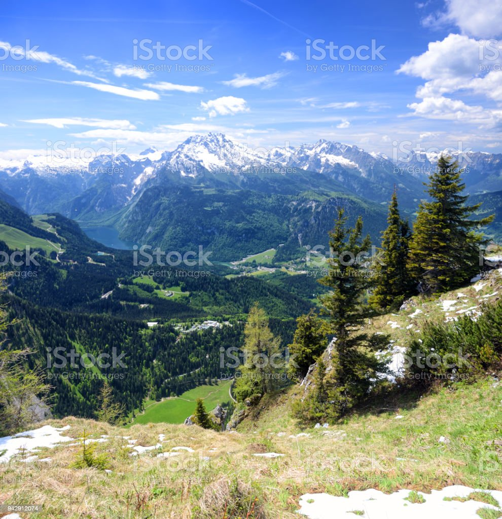 Berchtesgaden Alps stock photo