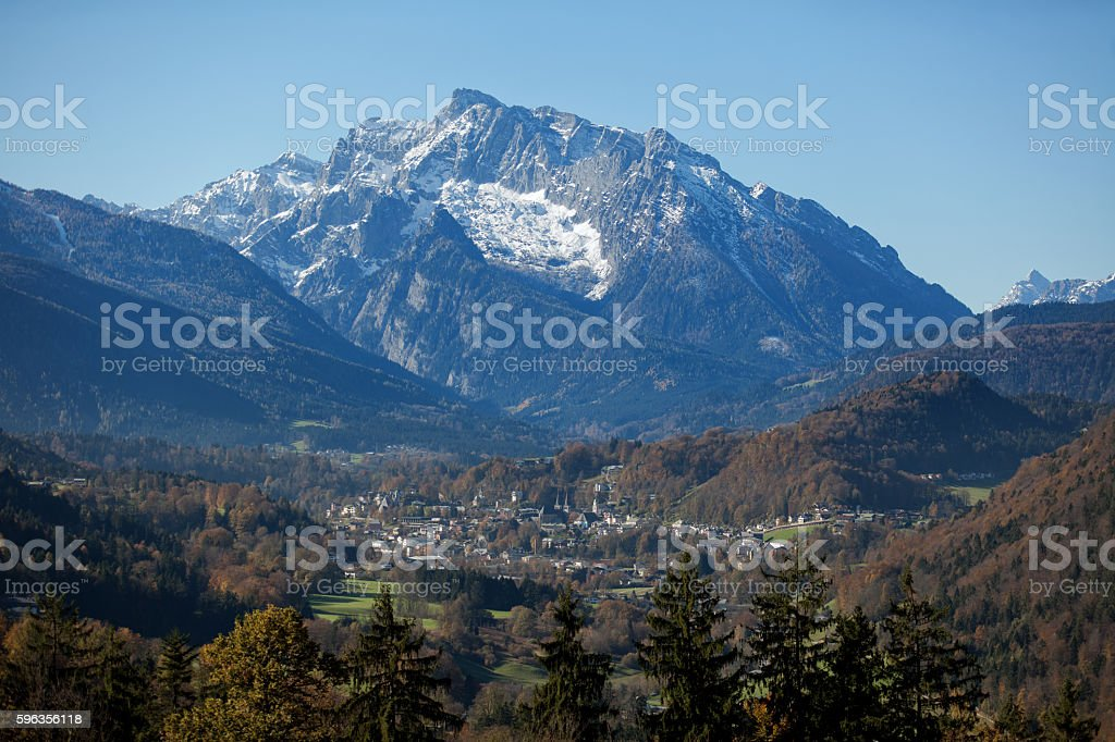 Berchtesgaden Town in the alps royalty-free stock photo