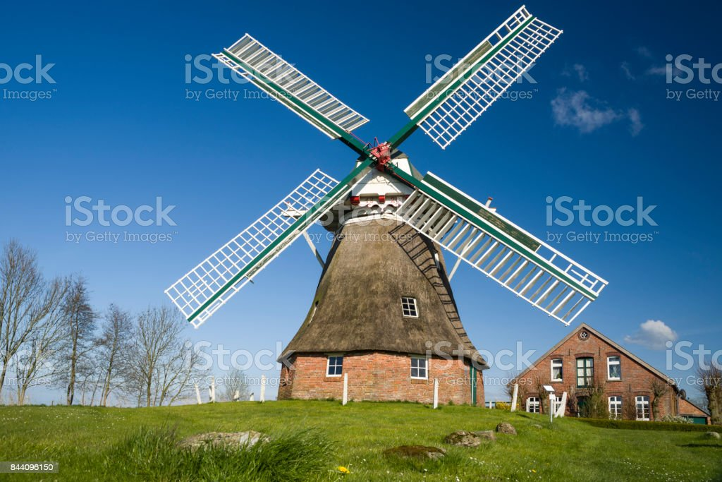 Berdumer Windmühle stock photo