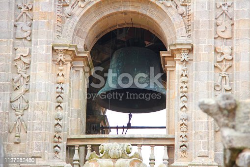 Berenguela Bell Tower at the Cathedral of Santiago de Compostela in Galicia, Spain.