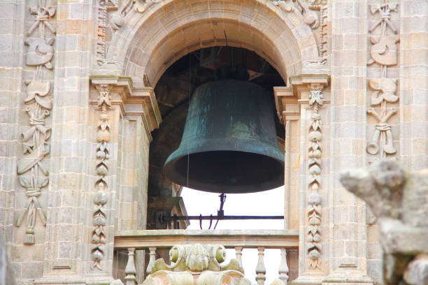 Berenguela Bell Tower at the Cathedral of Santiago de Compostela in Galicia, Spain. Berenguela Bell Tower at the Cathedral of Santiago de Compostela in Galicia, Spain. bell tower tower stock pictures, royalty-free photos & images