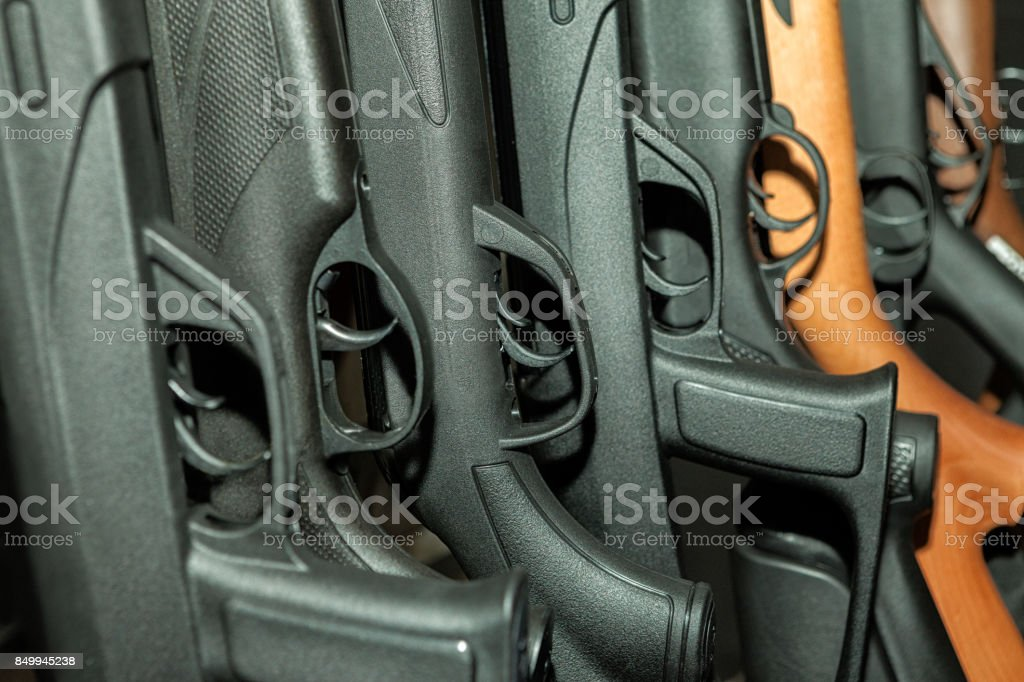 Beretta shotgun collection stock photo