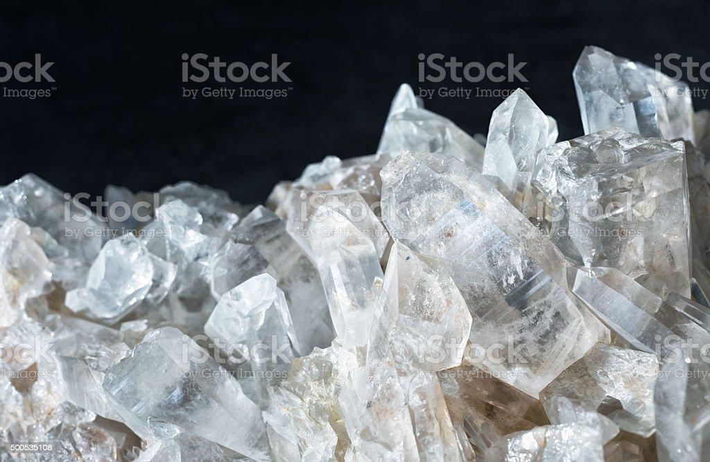 berg crystal quartz german diamond called bergkristall stock photo