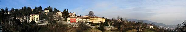 Bergamo Alta Panorama 2 stock photo