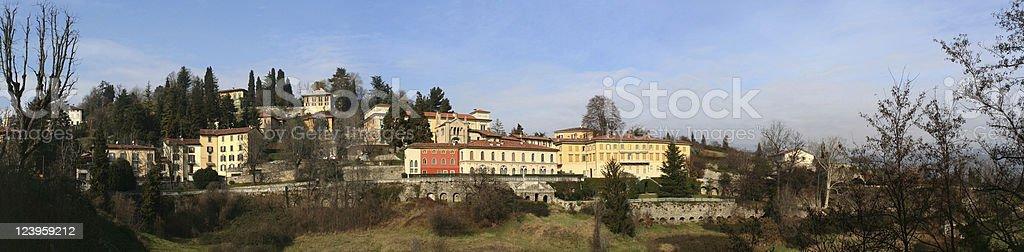 Bergamo Alta Panorama royalty-free stock photo