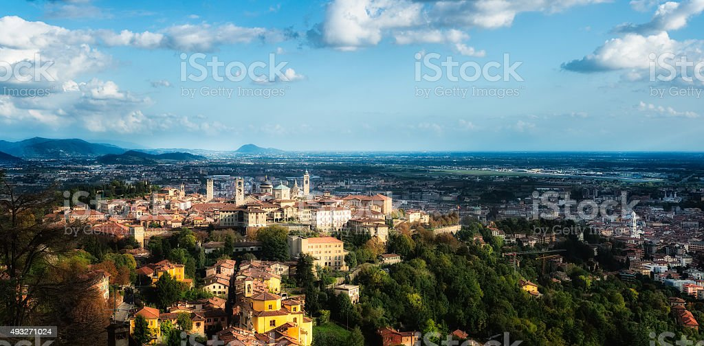 Bergamo Alta (high) stock photo