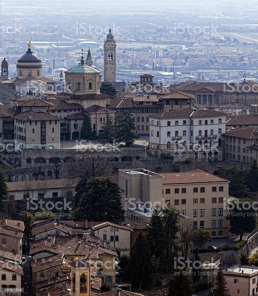 Bergamo - Cathedral. Panoramic view stock photo
