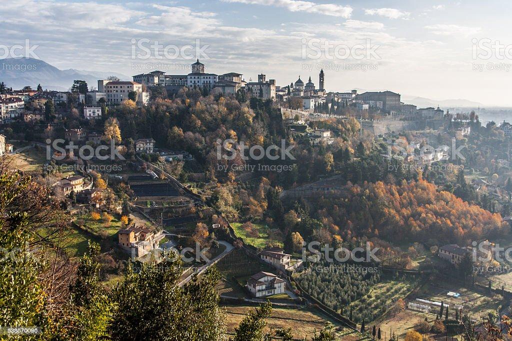 Bergamo, Città Alta - foto de stock
