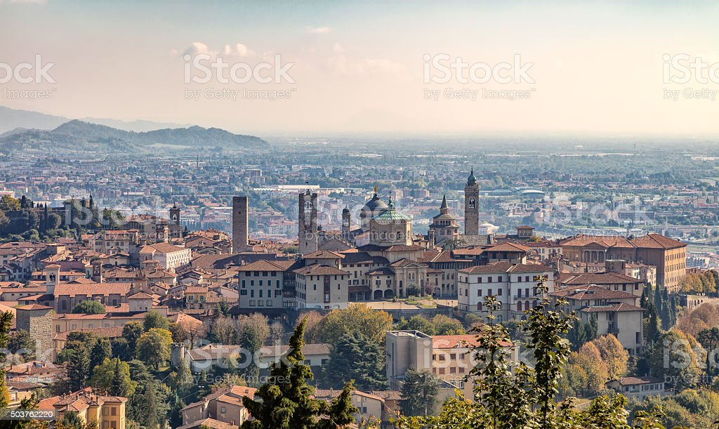Bergamo in the fall stock photo