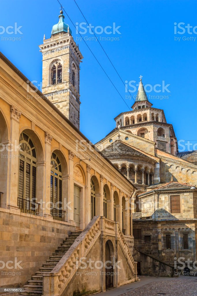 Bergamo, Old Town - Italy stock photo