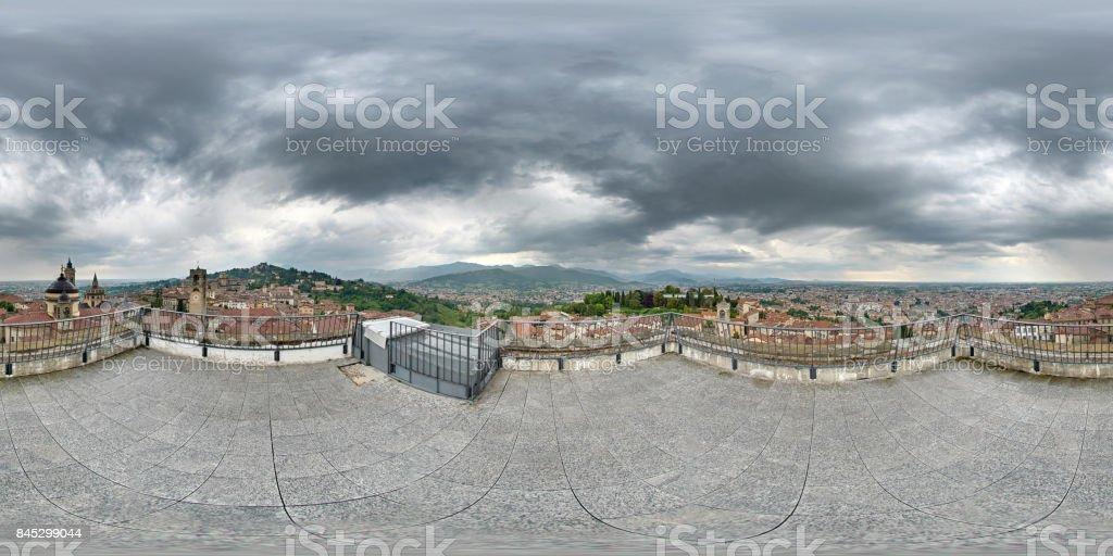 Bergamo panoramic view stock photo