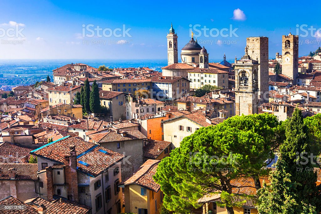 Bergamo,Lombardy,Italy. stock photo