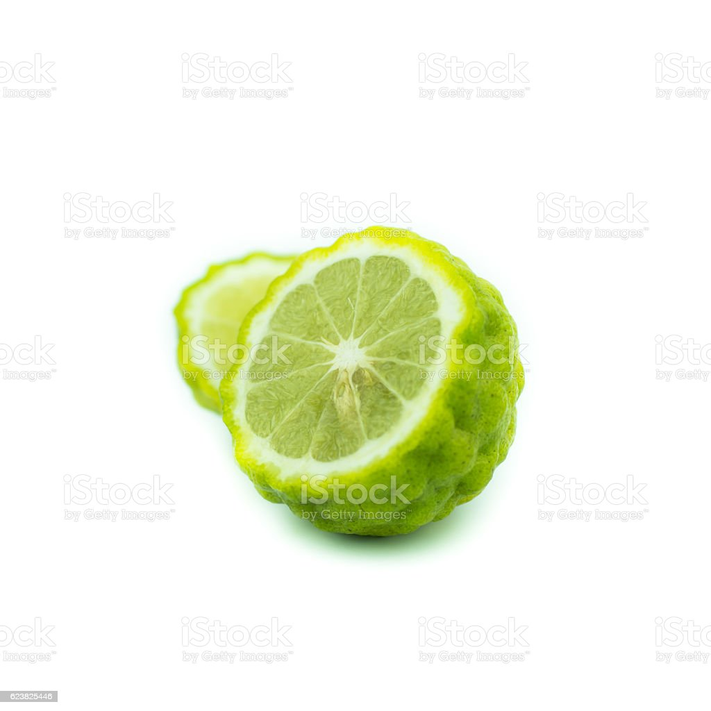 Bergamot fruit, Bergamot isolated on white background. stock photo