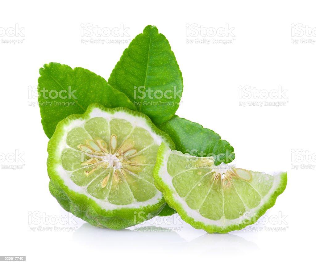 Goldmeliss'Obst auf weißem Hintergrund  – Foto