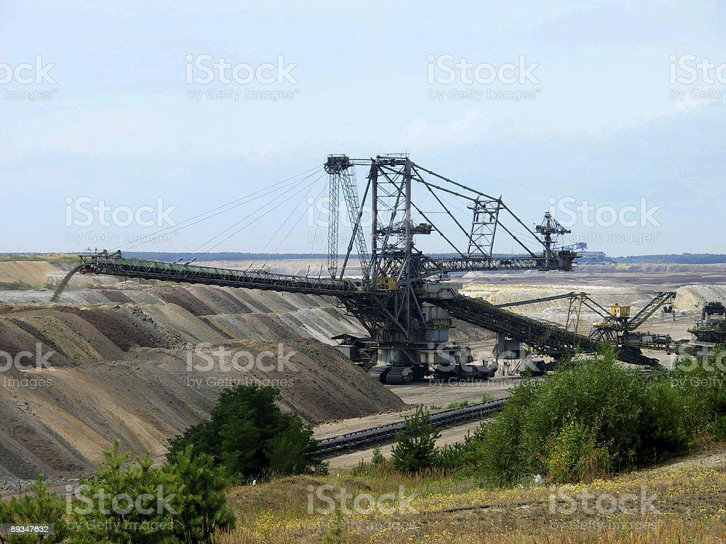 Bergbau in Brandenburg - Deutschland royalty-free stock photo