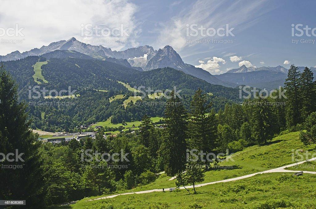 Bergblick royalty-free stock photo