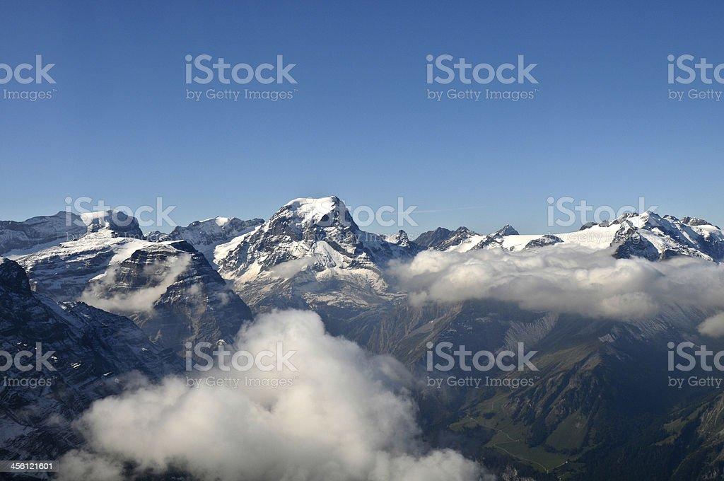 Berge vom Flugzeug gesehen stock photo