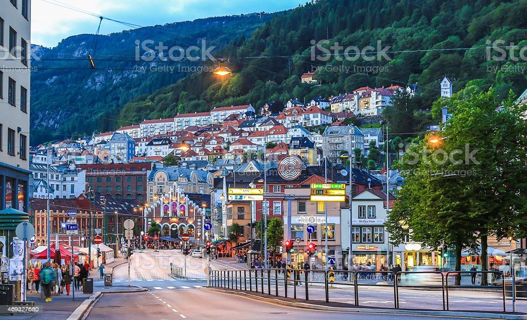 Bergen City Center stock photo