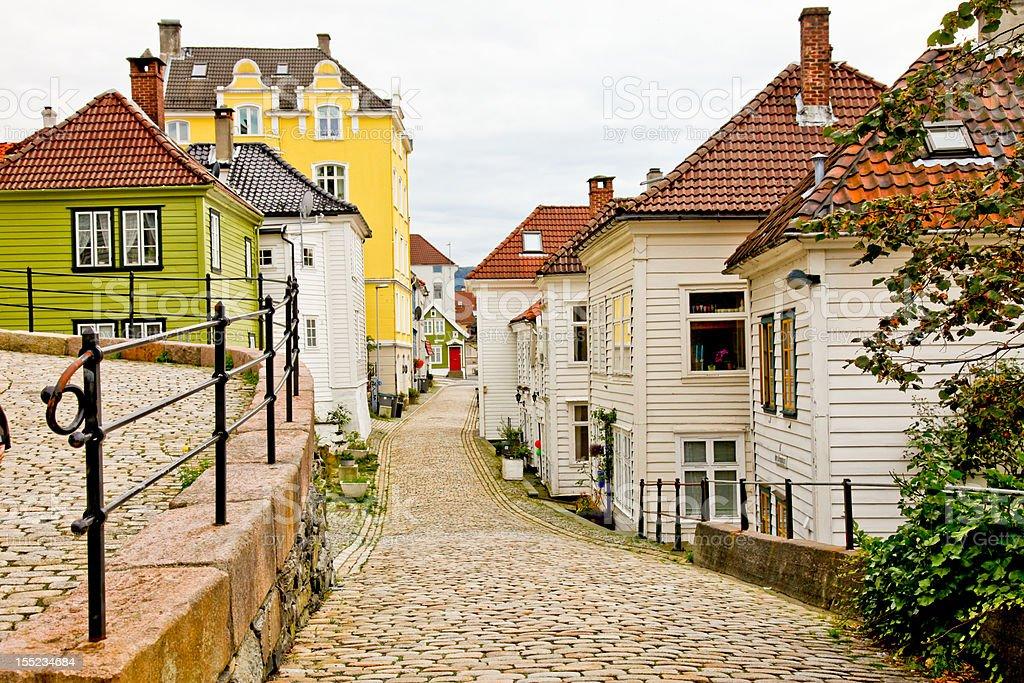 Bergen city, Norway bildbanksfoto