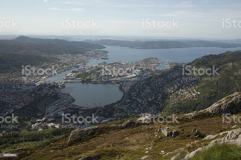 Bergen city royalty-free stock photo