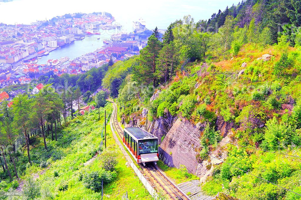 Bergen Funicular stock photo