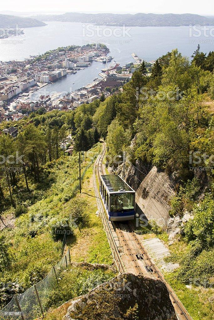 Bergen Funicular royalty-free stock photo