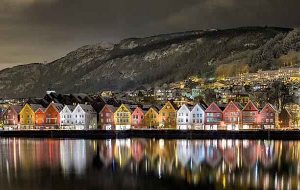 Bergen vue sur le port - Photo