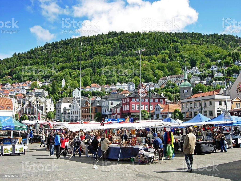 Bergen in Norway stock photo