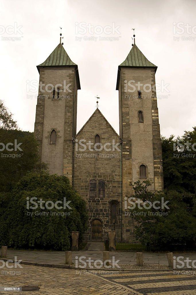 Bergen-Mariakirche Lizenzfreies stock-foto