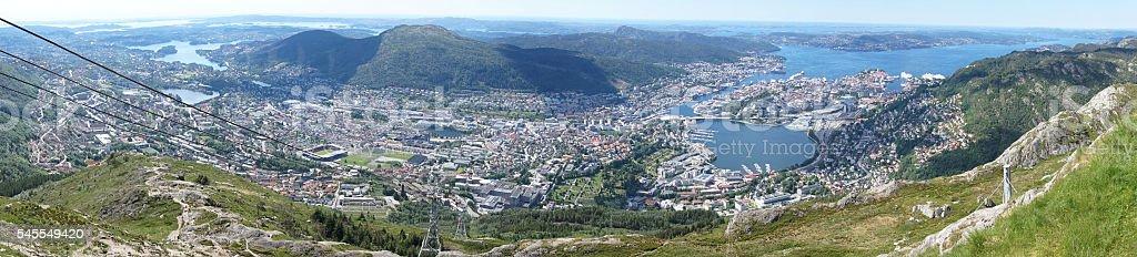 Bergen, Norway - panorama stock photo