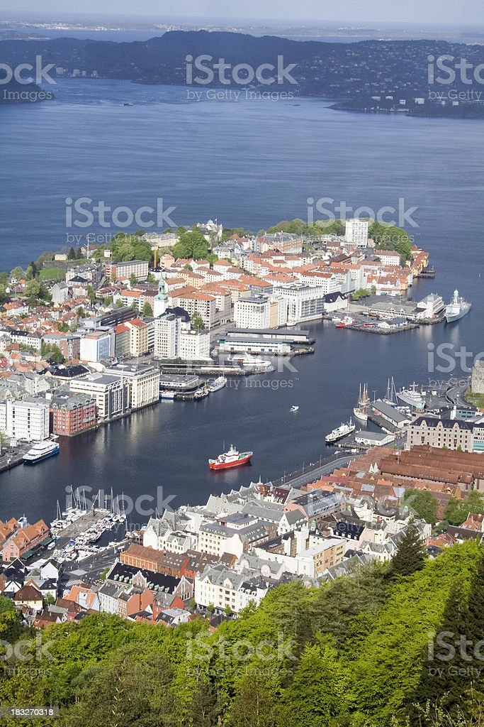 Bergen Norway royalty-free stock photo