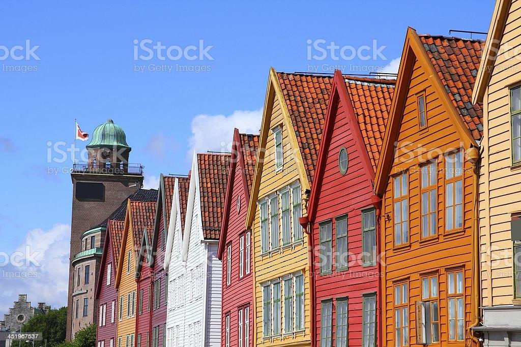 Bergen, Norway bildbanksfoto
