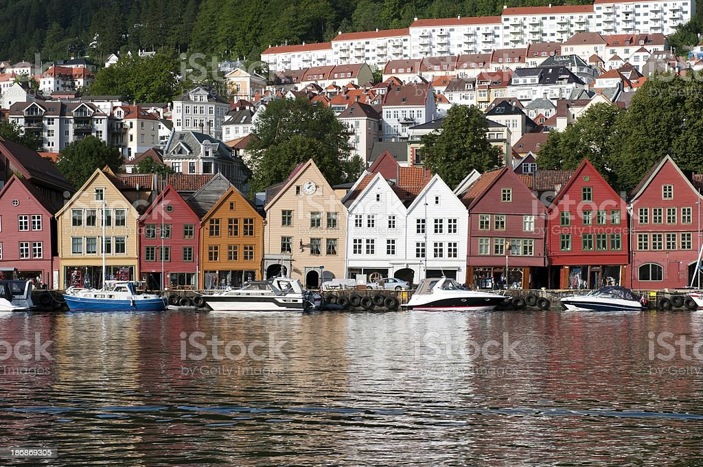 Bergen Old Town royalty-free stock photo