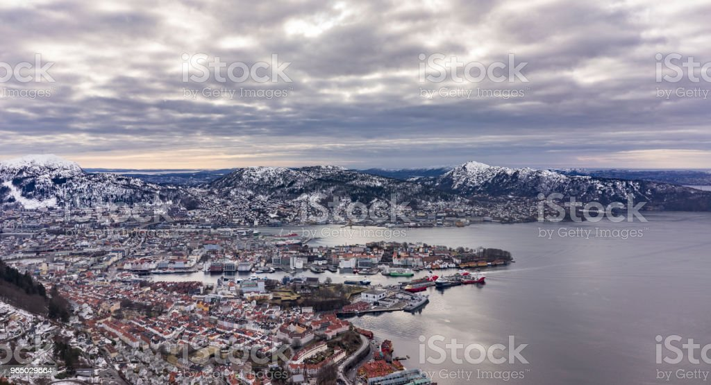 Bergen on Mountain royalty-free stock photo