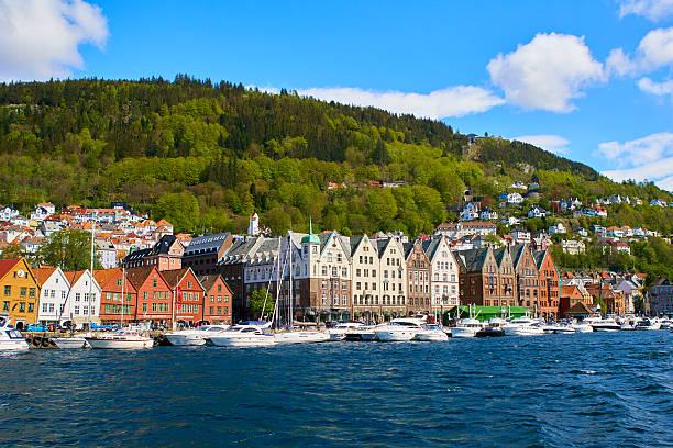 Bergen port a sunny day - Photo