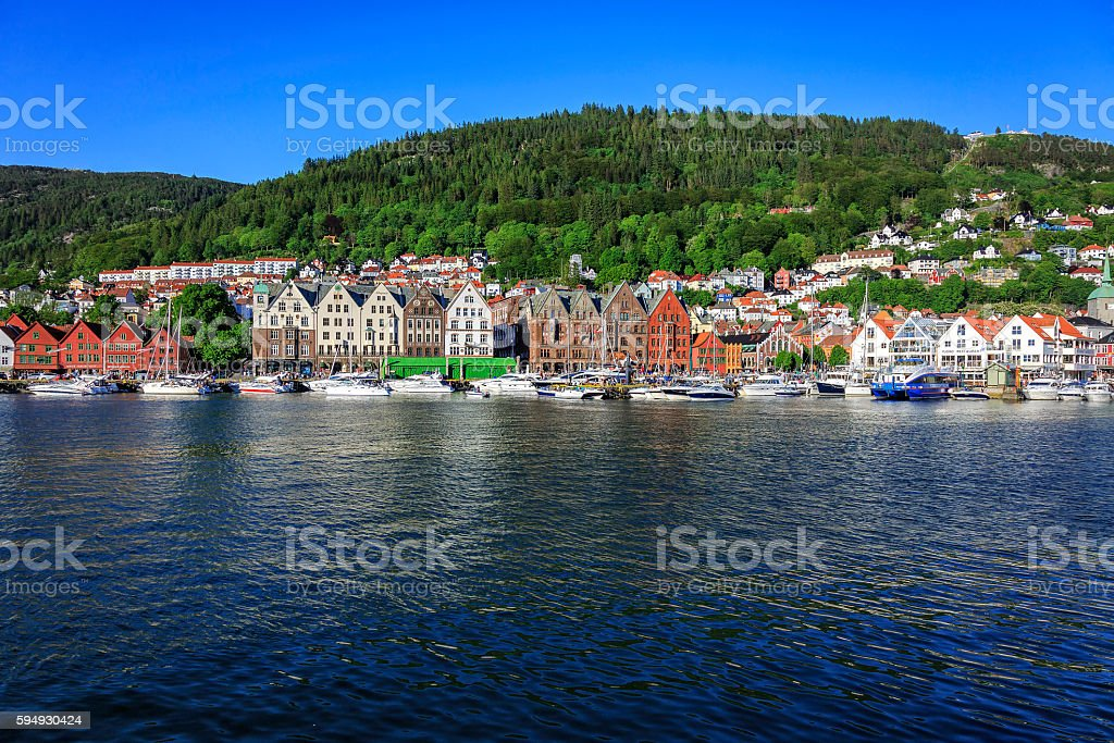 Bergen waterfront, Norway stock photo