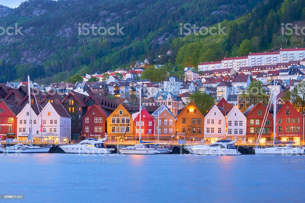 Bergen's port timber houses – Foto