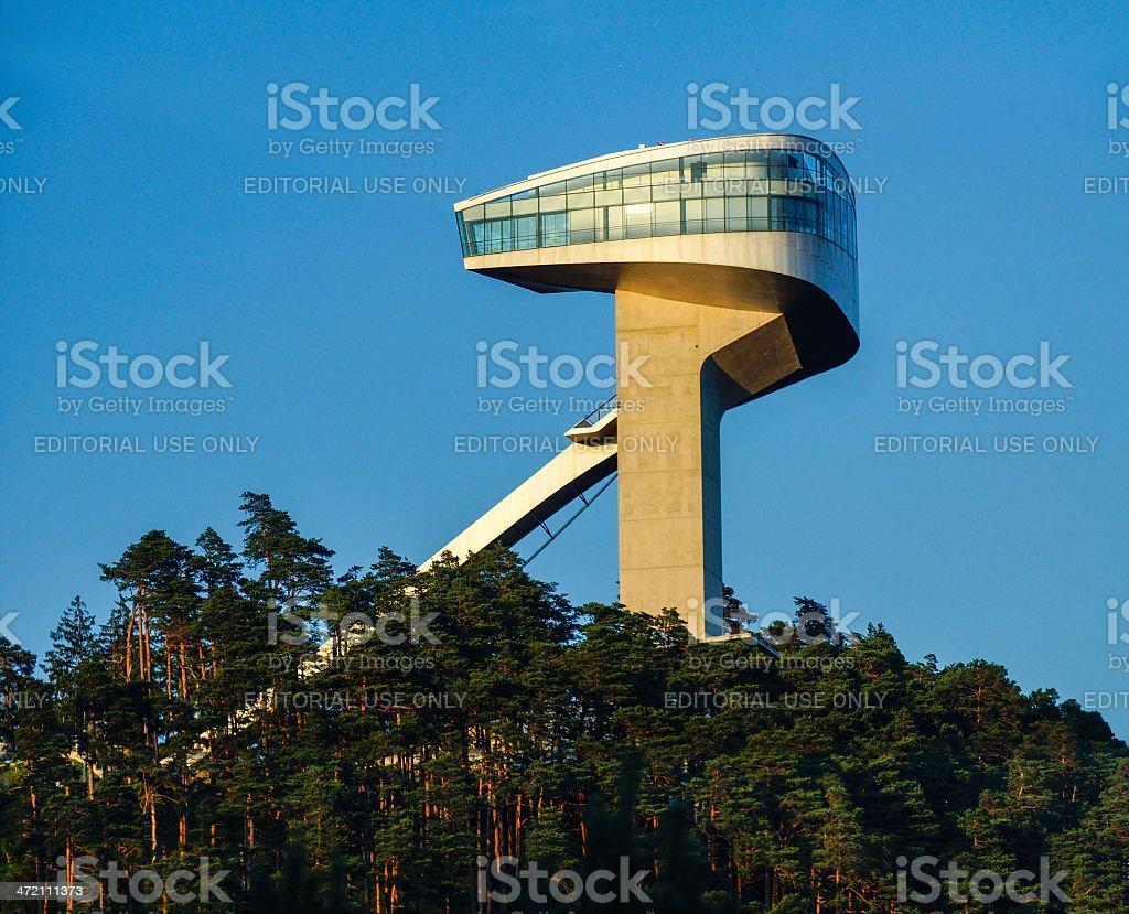 Bergisel Ski Jump Tower stock photo