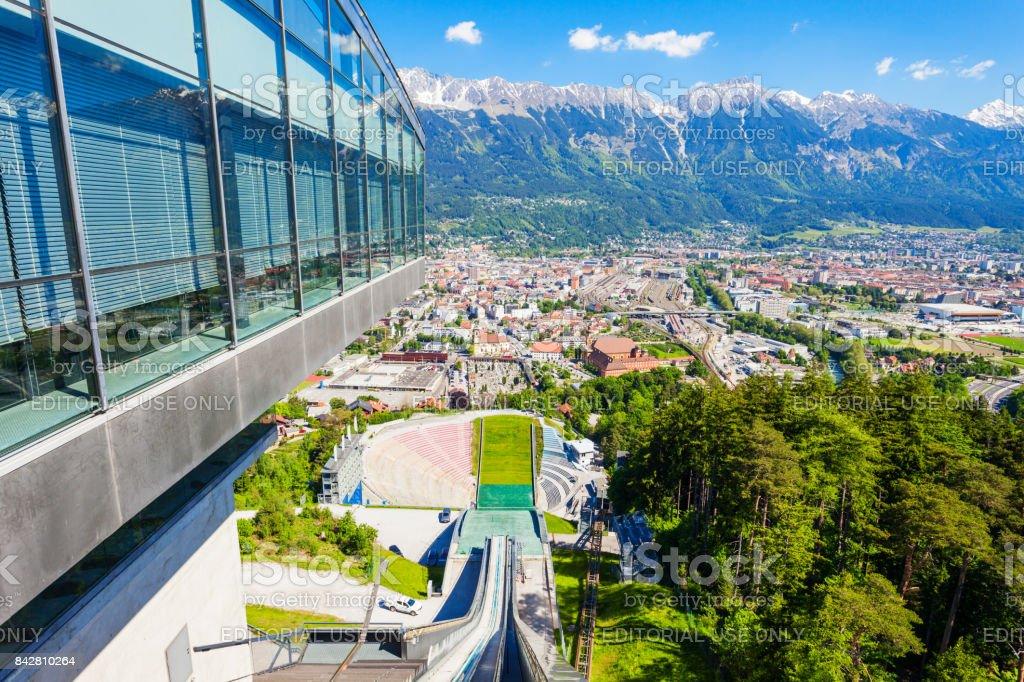 Bergisel Sprungschanze Stadion, Innsbruck stock photo