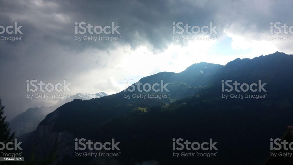mountain panorama na Suíça. - Foto de stock de Allgau royalty-free