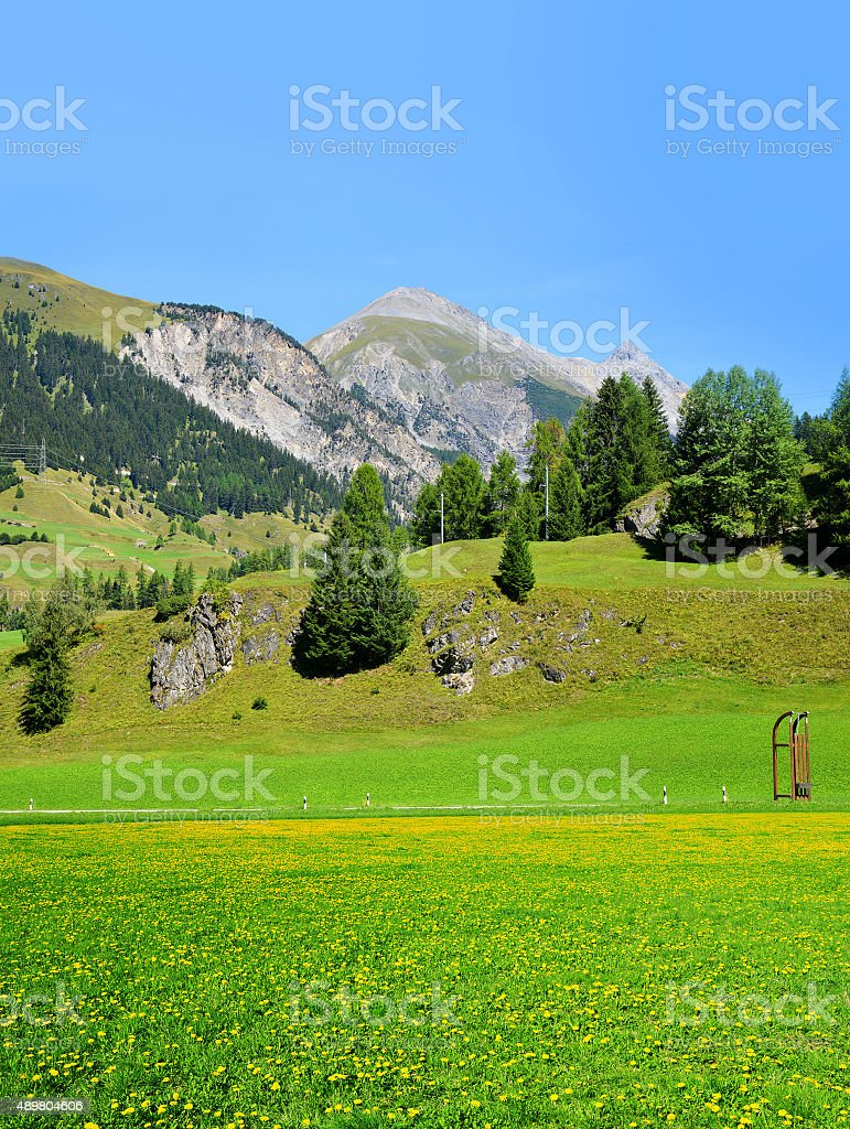 Bergun in Canton Graubunden, Switzerland stock photo