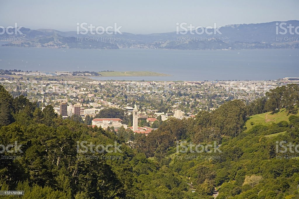 Berkeley CA: View from East Bay Hills - Royalty-free California Stock Photo