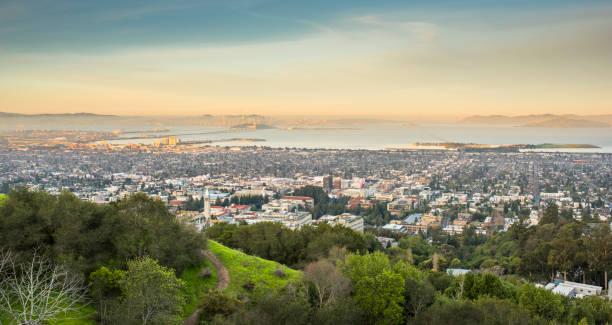 Berkeley view from the Campanile, California stock photo