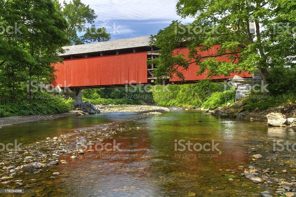 Berkshires Covered Bridge stock photo