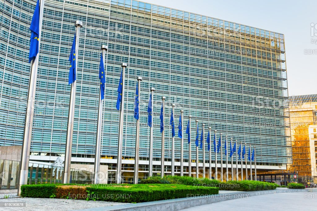 Berlaymont building in morning stock photo