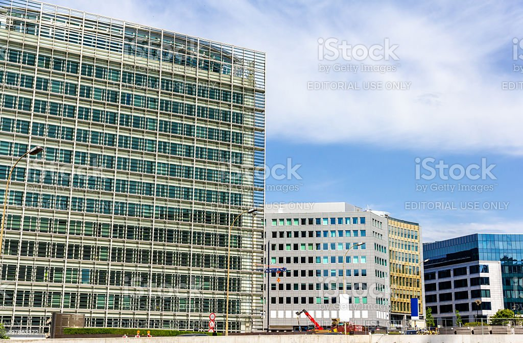 Berlaymont building of the European Commission stock photo