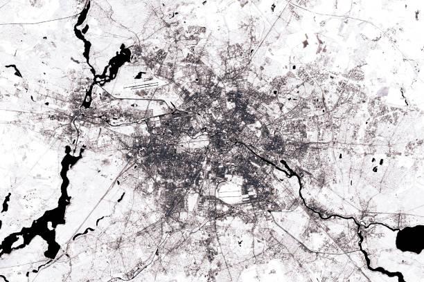 Berlin Abstract City Map schwarz / weiß – Foto