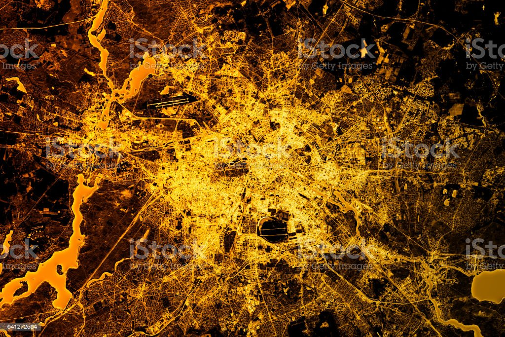 Berlin Abstract City Map Golden – Foto