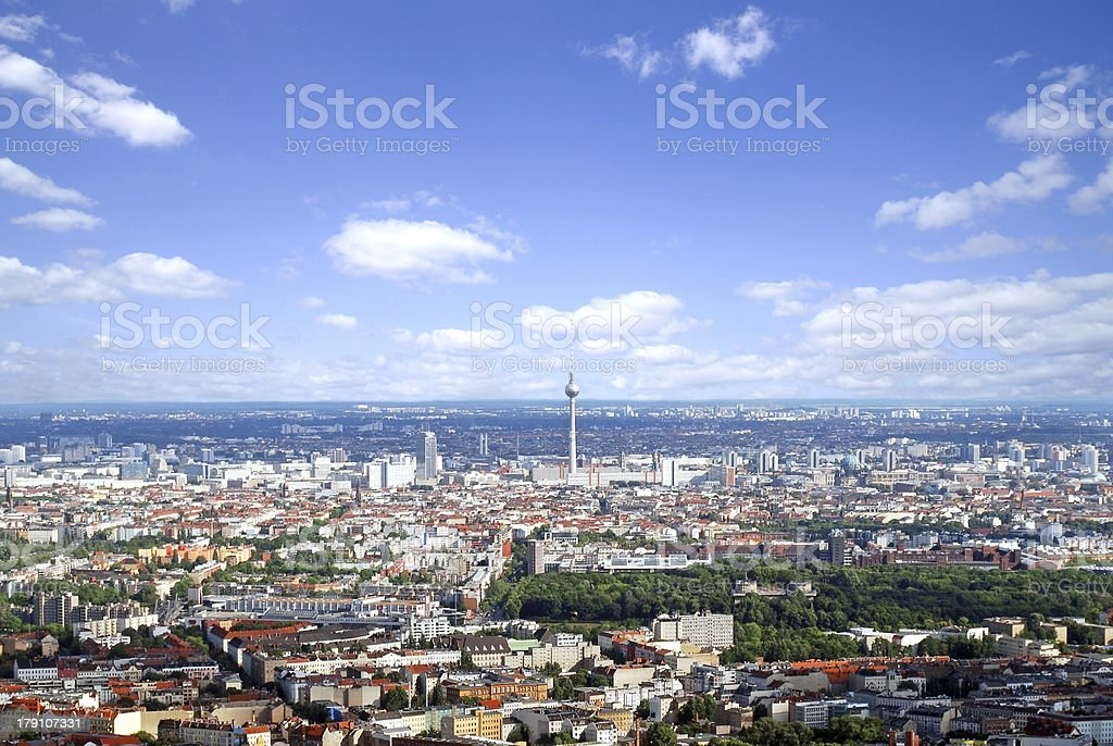 Berlin - aerial view stock photo