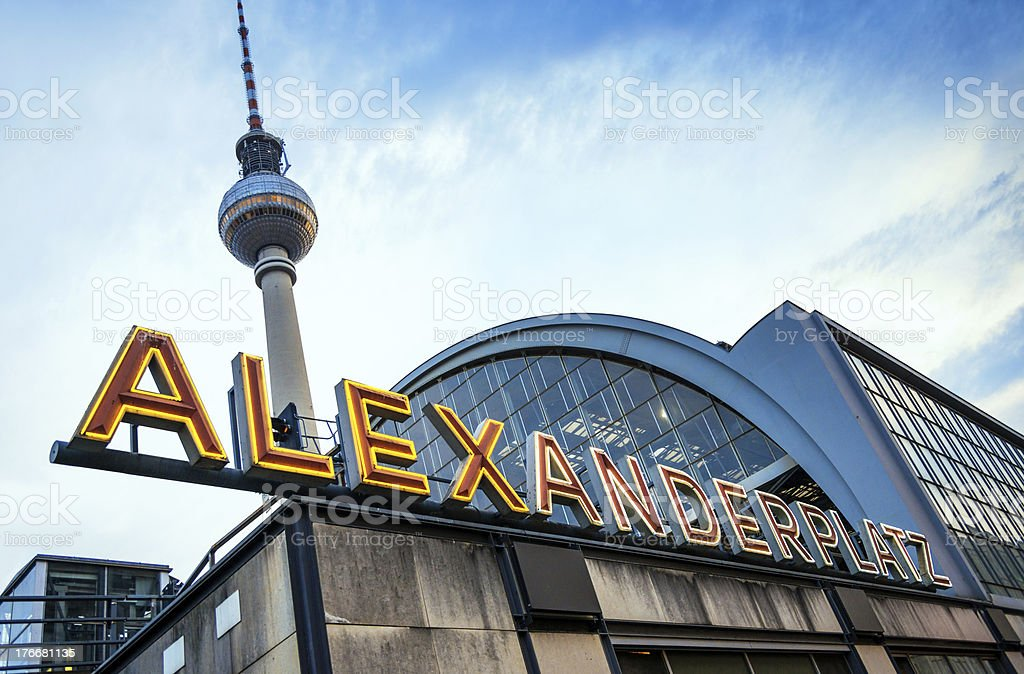 Berlin Alexanderplatz royalty-free stock photo
